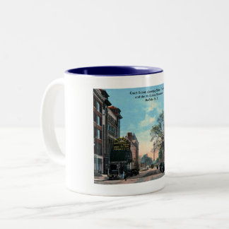 Court St., Shea's Theatre, Buffalo, NY Vintage Two-Tone Coffee Mug