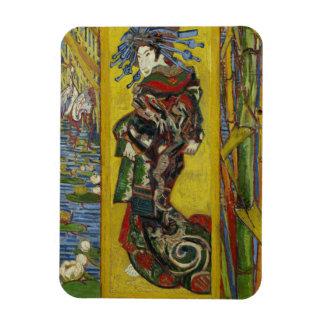 Courtesan after Eisen by Vincent Van Gogh Magnet