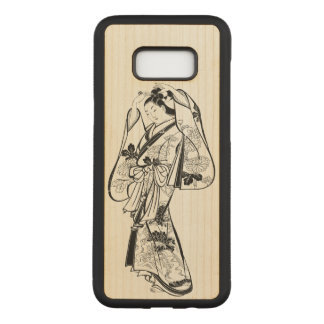 Courtesan Placing a Hairpin in Her Hair Carved Samsung Galaxy S8+ Case