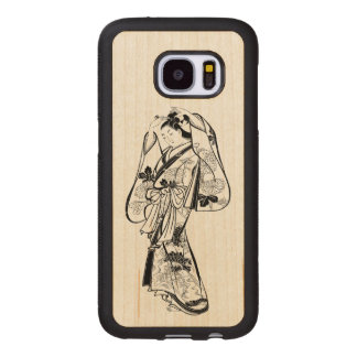 Courtesan Placing a Hairpin in Her Hair Wood Samsung Galaxy S7 Case