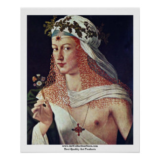 Courtesan (Portrait Of Lucrezia Borgia?) Poster