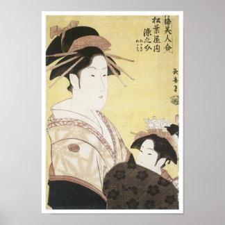 Courtesan Somenosuke Choki 1795 Poster