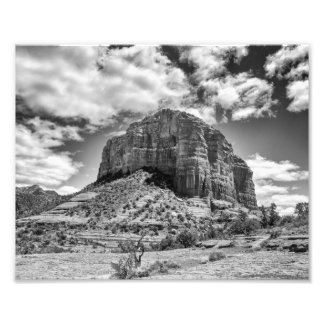 Courthouse Butte - Black & White | Photo Print