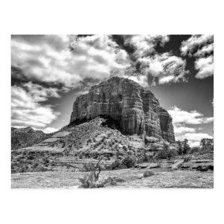 Courthouse Butte - Black & White   Postcard