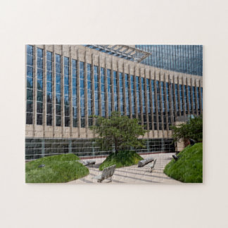 Courthouse Facade and Plaza in Minneapolis Puzzle