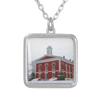 Courthouse Snow Silver Plated Necklace