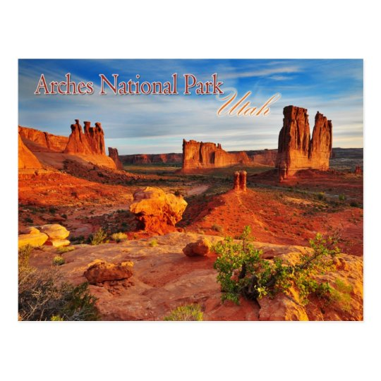 Courthouse Towers in Arches National Park, Utah Postcard