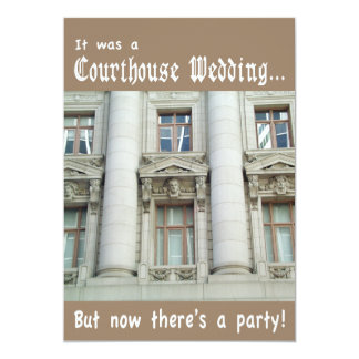 Courthouse Wedding Party Invitation
