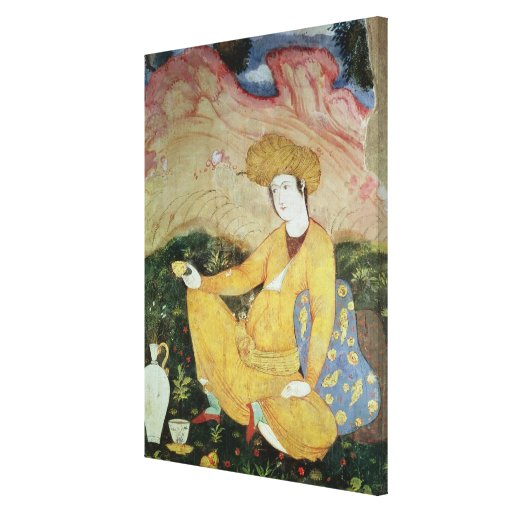 Courtier from the Court of Shah Abbas I Gallery Wrapped Canvas