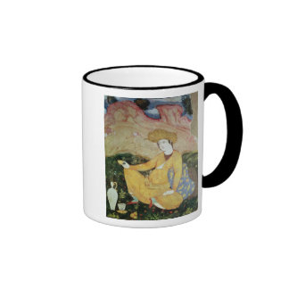 Courtier from the Court of Shah Abbas I Ringer Coffee Mug
