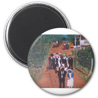 Courtin After Church Magnet