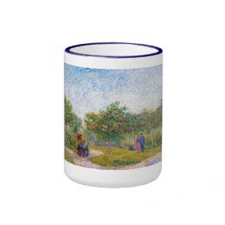 Courting Couples in the Voyer d'Argenson Park Gogh Ringer Mug