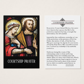 Courtship Engagement Prayer Holy Card
