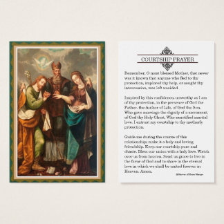 Courtship / Engagement Prayer Holy Card