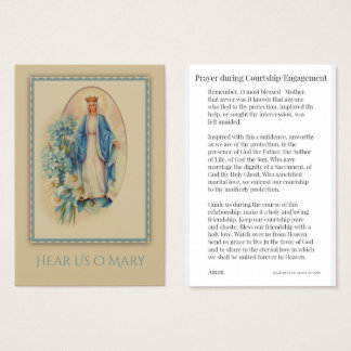 Courtship / Engagement Prayer to Mary Holy Card