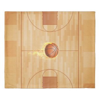 Courtside Basketball Reversible King Size Duvet Cover
