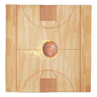 Courtside Basketball Reversible Queen Size Duvet Cover