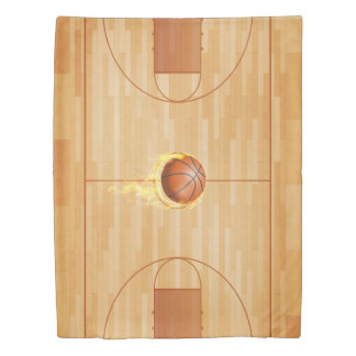 Courtside Basketball Reversible Twin Size Duvet Cover