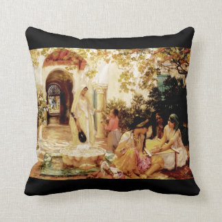 Courtyard, El Biar Throw Pillow