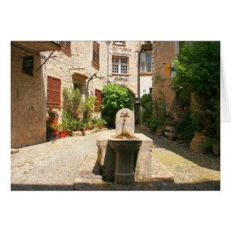 Courtyard Fountain Greeting Card