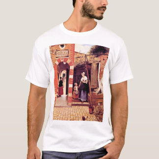 Courtyard Of A House In Delft By Hooch Pieter De ( T-Shirt