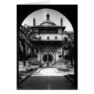 Courtyard, Ponce de Leon Hotel, St. Augustine Note Card