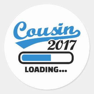 Cousin 2017 classic round sticker