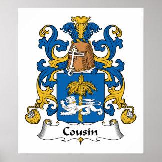 Cousin Family Crest Print