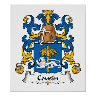 Cousin Family Crest Print