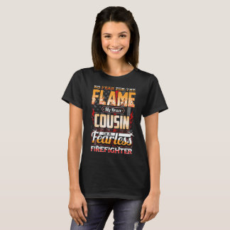 Cousin Firefighter American Flag T-Shirt
