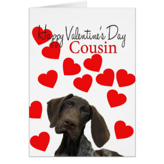 Cousin Glossy Grizzly Valentine Puppy Love Card