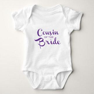 Cousin of Bride Purple on White Tee Shirt