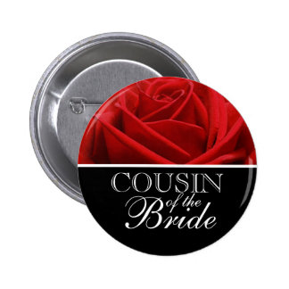 Cousin Of The Bride Wedding Buttons | Badges