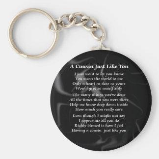 Cousin Poem - Black Silk Keychain
