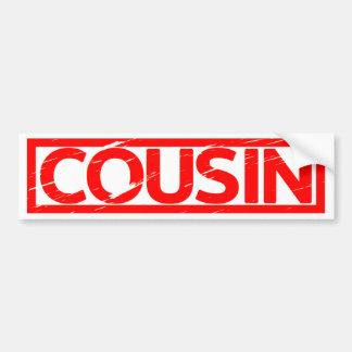 Cousin Stamp Bumper Sticker