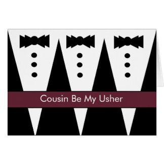 COUSIN - Usher Invitation - Tuxes