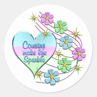 Cousins Make Life Sparkle Classic Round Sticker