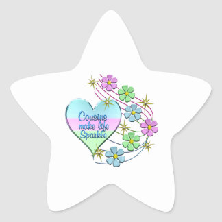 Cousins Make Life Sparkle Star Sticker