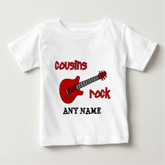 Cousins Rock! with Red Guitar Baby T-Shirt