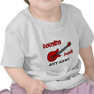 Cousins Rock! with Red Guitar T Shirts