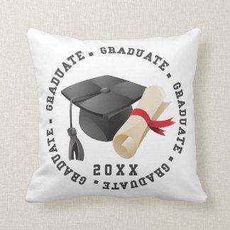 Coussin de chapeau de diplômé et de photo de degré