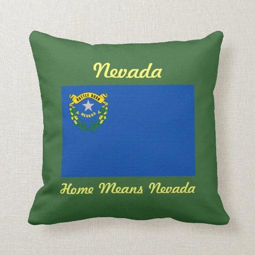 Coussin de drapeau d'état du Nevada