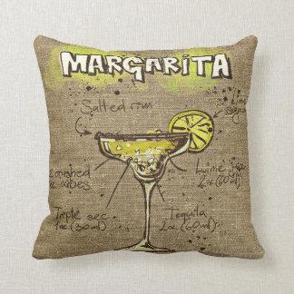 Coussin de recette de margarita/kamikaze