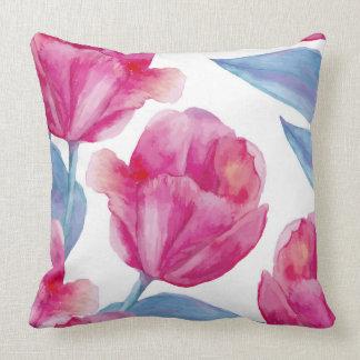 Coussin décoratif de tulipe rose