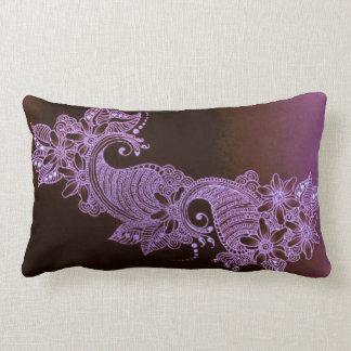 coussin floral de mehndi violet de henné