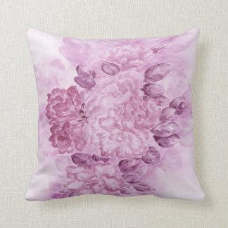 Coussin floral violet