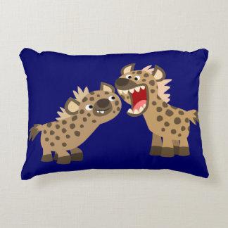 Coussin Grand-Teethed mignon d'accent d'hyènes de Coussin Déco