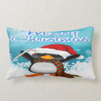 Coussin lombaire de pingouin de Joyeux Noël