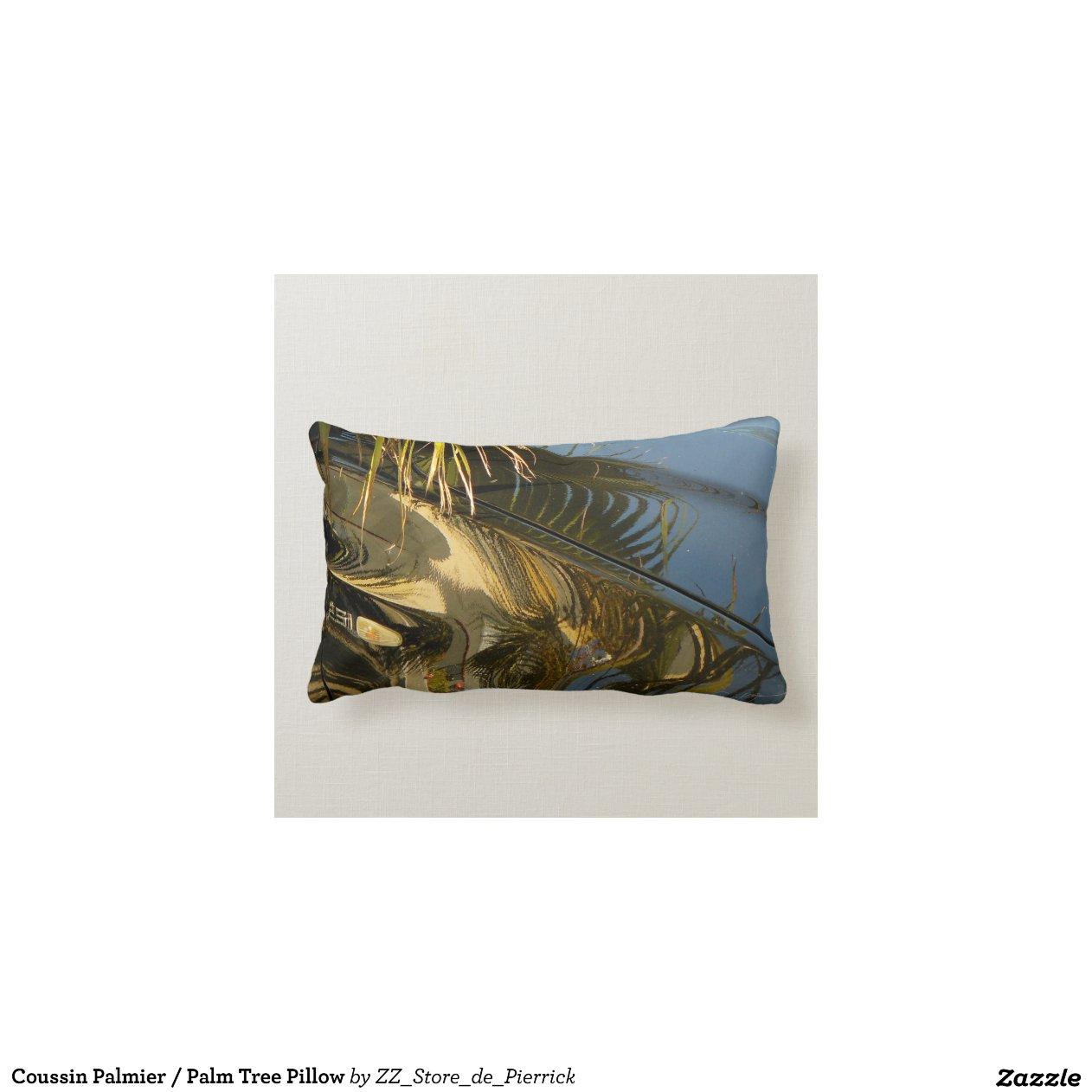 coussin palmier palm tree pillow zazzle