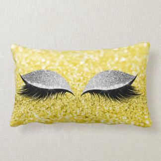 Coussin Rectangle Citron fascinant de jaune de maquillage de noir de